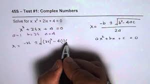 solve quadratic equation with complex coefficients