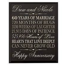 lifesong milestones personalized 60th wedding for pas wall plaque gifts for couple custom made pas