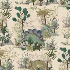 dinosauria wallpaper ecru