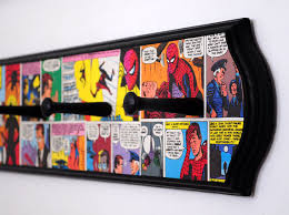 Superhero Coat Rack Vintage Spiderman Decoupaged Coat Rack Superhero Comic Book Room 18