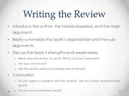 writing for history the book review