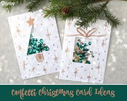 diy card ideas with confetti