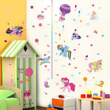 Child Height Chart For Wall Cartoon Colorful Horse Child Height Measure Growth Chart Wall Sticker For Kids Room Nursery Girl Bedroom Art