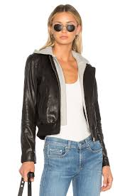 a l c edison leather jacket in black