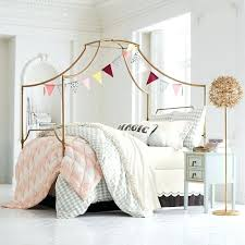 Full Size Bed Canopy Of Bedroom Kids Curtains Double Cover Wood ...