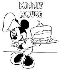 Minnie Mouse Coloring Pages - coloringsuite.com