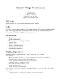 Fast Food Sample Resume Fast Food Resume Examples Resume Format