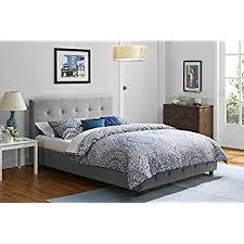 Amazon.com: DHP Platform Bed, Rose Linen Tufted Upholstered ... & DHP Platform Bed, Rose Linen Tufted Upholstered Platform Bed – Includes  Button Tufted Upholstered Headboard Adamdwight.com