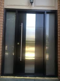 custom steel entry doors front doors with glass modern contemporary front entry door frosted glass and