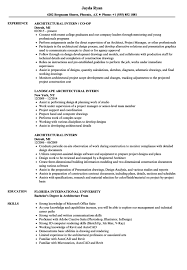 Architecture Internship Resume - Resume Sample