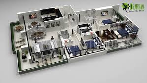 modern office floor plans. Www.yantramstudio.com. 3D Floor Plan Rendering Modern Office Plans