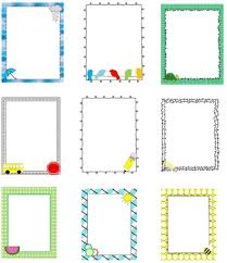 Preschool Page Borders Elementary Themed Page Borders By The Helpful Teacher Next Door Tpt