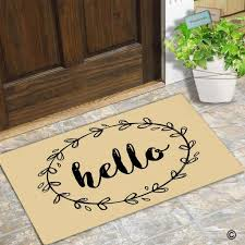 Funny Doormat Entrance Floor Mat Border Hello Creative Designed ...