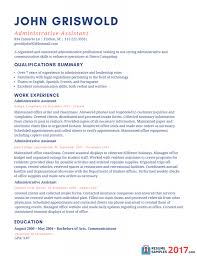 Sample Resume For Administrative Assistant Office Manager Pics