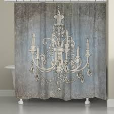 laural home chandelier lights shower curtain 71 inch x 74 inch