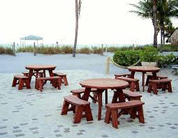 round picnic table umbrellas with lights covers for winter bench pads