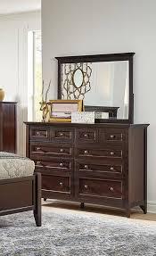 Queen Storage Bedroom Set 5P TV Chest Dark Mahogany WSLDM5091 A ...