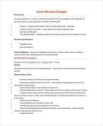 Resume Example For Server Musiccityspiritsandcocktail Com
