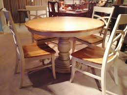 kitchen pedestal dining table set:  inch round pedestal dining table ideal round dining table for round glass dining table