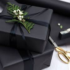 Best 25 Black Wrapping Paper Ideas On Pinterest  Christmas Designer Christmas Gift Wrap