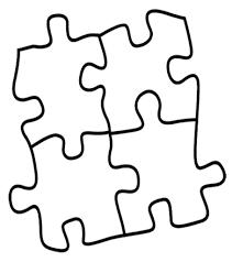 Puzzle Pieces Coloring Page Free Clip Art Regarding Piece And ...