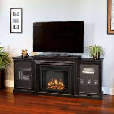 real flame frederick entertainment 72 in media console electric fireplace tv stand in blackwash