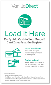 vanilladirect load it here steps