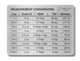C0nversion Chart Measuring Equivalents Chart One Teaspoon In