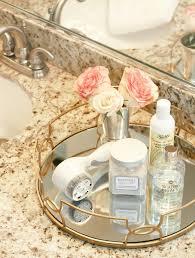 Bathroom Vanity Tray Decor Elegant Mirrored Vanity Tray Decorating For Bathroom Transitional 74