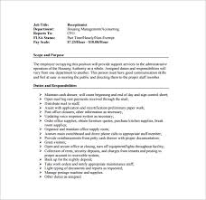 another word for receptionist 10 receptionist job description templates free sample example