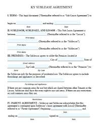 residential sublease agreement template. sublease agreement template word Thevillasco