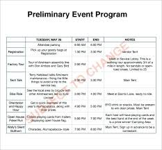 Template For A Program For An Event Program Templates For Events Images Template Design Ideas Sample