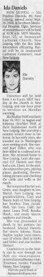Ida Wolf Danials obit - Newspapers.com
