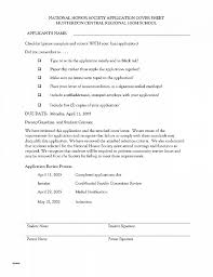 National Honor Society Application Sample Cover Letters From