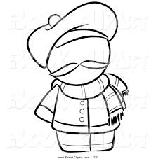 Small Picture Vector Clip Art of a Black and White Human Factor French Man with