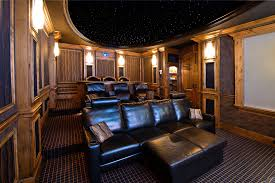 home theater step lighting. home theater family room design traditional with brown fabric fa step lighting g