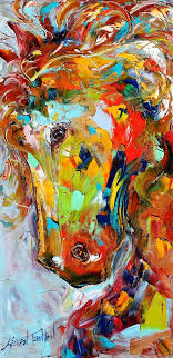 i love abstract paintings original oil painting abstract equine horse pony portrait by karensfineart painting is sold but prints on canvas available