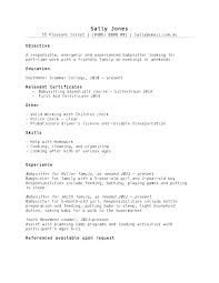 Objective For A Nanny Resume Resume For A Nanny Nanny Resume Templates Nanny Resume Sample 50