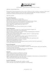 job description for a dentist free dentist receptionist job description templates at