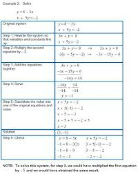 solving linear equations worksheet answers also solving systems of linear equations in two variables using the
