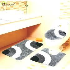 5 piece bathroom rug set bath sets 3 pieces thick superfine fiber no slip mat black s
