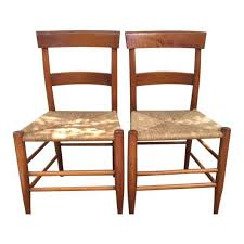 ladder back sweet design rush seat dining chairs c robinson antique a pair chairish 4 ege furniture set
