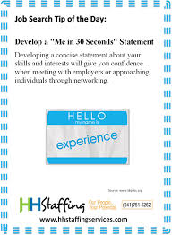 Personal Statement Tip Jobsearch Tip Of The Day Develop A Personal Statement It Can Be