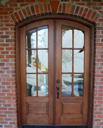 wood entry doors with glass install