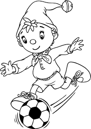 nice noddy 97 play football coloring page | Mcoloring | Pinterest ...