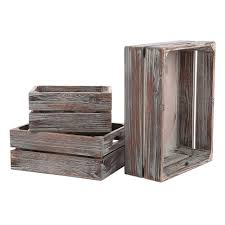 white distressed extra large rustic wooden card box fearsome com set of 3 country rustic