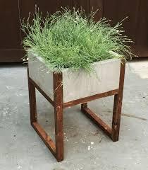 ... How To Make Large Concrete Planters At Home Planter Boxes Rectagle  Boxes Pot Concrete ...