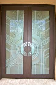 etched frosted glass doors geometric sun odyssey sans soucie