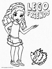 Small Picture Lego Friends Emma Coloring page