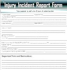 Workplace Incident Report Template Work Incident Report Form